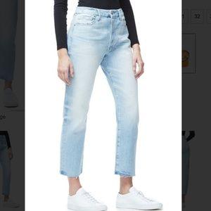 GOOD AMERICAN   Good Cuts Raw Edge Jeans